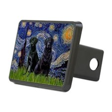 Starry Night / 2 Black Labs Hitch Cover