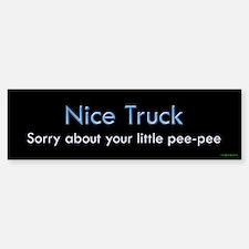 Nice Truck Little Pee-Pee Bumper Bumper Bumper Sticker