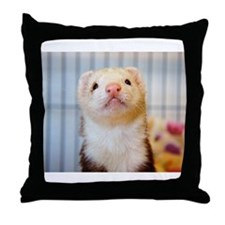 Silly Ferret Throw Pillow