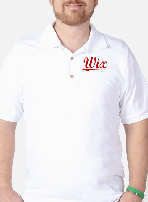 Wix, Vintage Red Golf Shirt