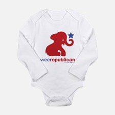 Funny Weepublican Long Sleeve Infant Bodysuit