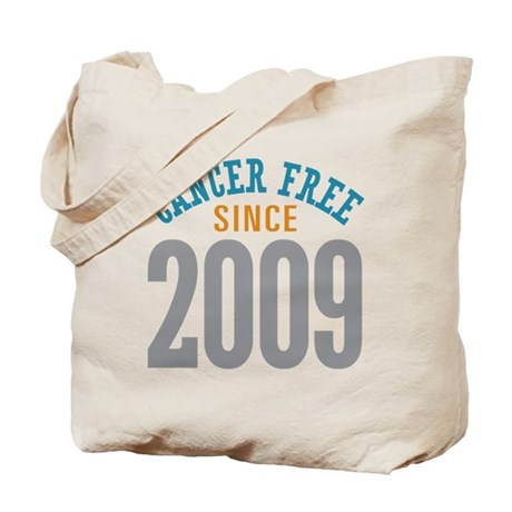 Cancer Free Since 2009 Tote Bag