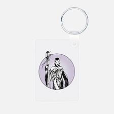 Lady Magi Aluminum Photo Keychain