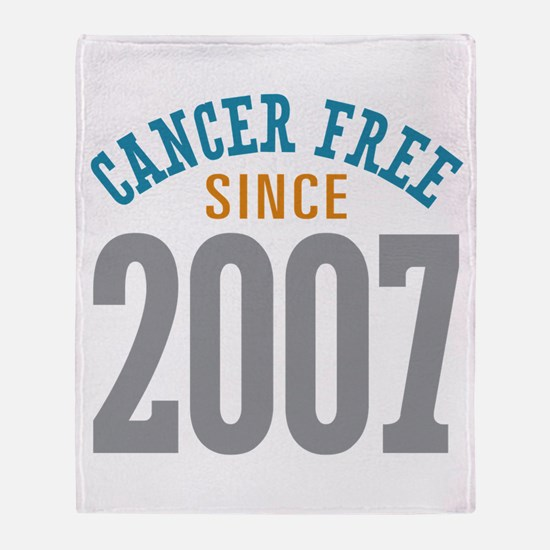 Cancer Free Since 2007 Throw Blanket