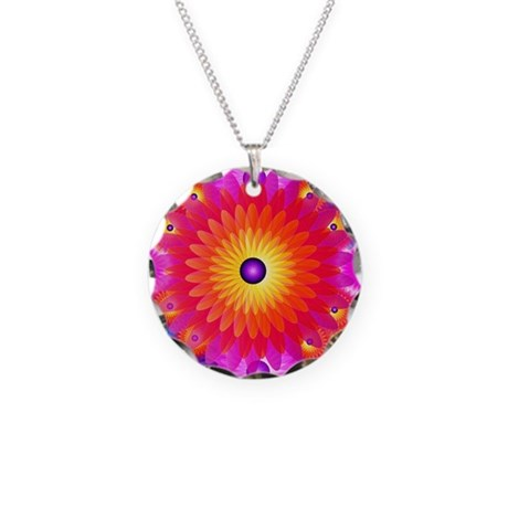 Big flower (Necklace Circle Charm)