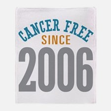 Cancer Free Since 2006 Throw Blanket