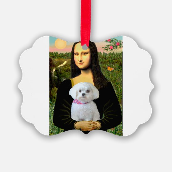 Mona's Maltese (R) Ornament
