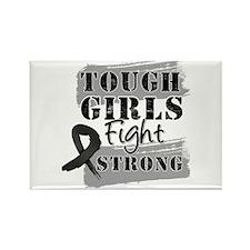 Tough Girls Skin Cancer Rectangle Magnet