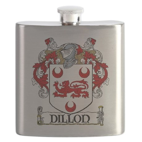 Dillon Coat of Arms Flask