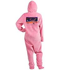 XmasSunrise/ 2 OES Footed Pajamas