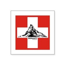 flag&mountain Rectangle Sticker