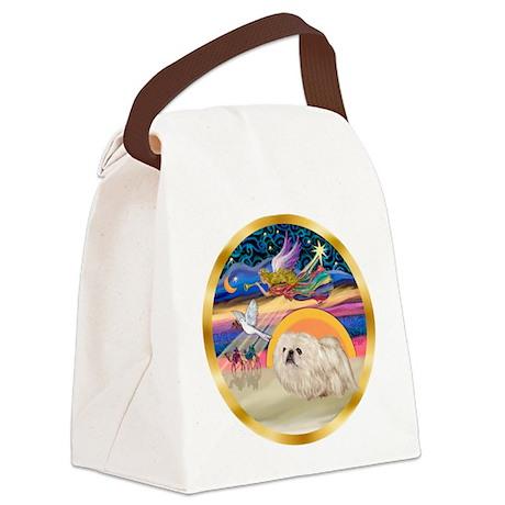 XmasStar/Pekingese (w) Canvas Lunch Bag
