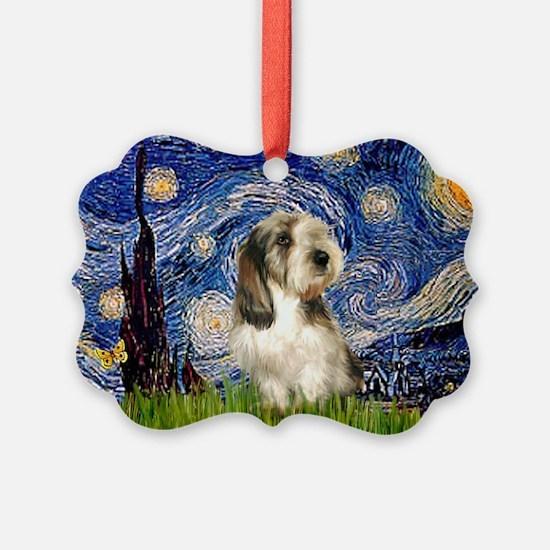 Starry Night PBGV (#4) Ornament