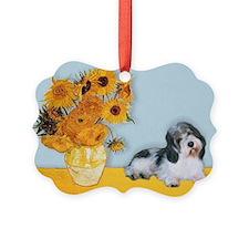 Sunflowers/ Petit Basset #8 Ornament