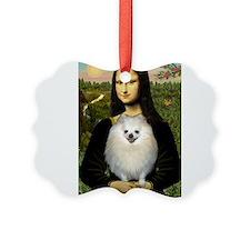 Mona's White Pom Ornament