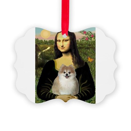 Mona Lisa & Pom (#1) Picture Ornament