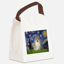 Starry/Pomeranian (#1) Canvas Lunch Bag