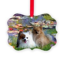 2 Poms in Lilies Ornament