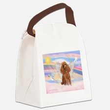 Angel/Poodle (apricot Toy/Min Canvas Lunch Bag