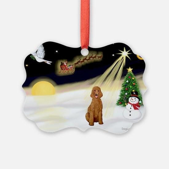 Night Flight/Poodle Std Ornament