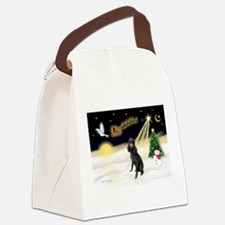 Night Flight/Poodle (Std) Canvas Lunch Bag