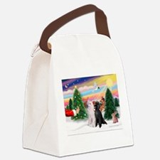 Treat/Two Poodles (ST) Canvas Lunch Bag