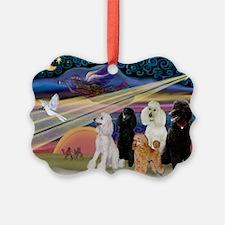 XmasStar/5 Poodles Ornament