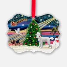 Xmas Magic & Poodle Ornament