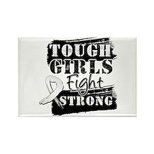 Tough Girls Retinoblastoma Rectangle Magnet