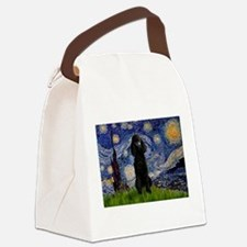5.5x7.5-Starry-Pood-Blk-Paris.PNG Canvas Lunch Bag