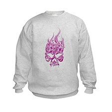 Pink Tribal Skull Sweatshirt