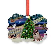 Xmas Magic & Pug Ornament