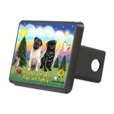 Pugs are Family (2) Hitch Cover