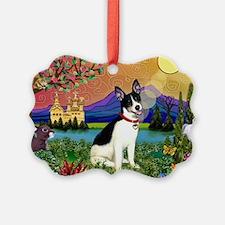 Rat Terrier in Fantasy Land Ornament