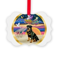 XmasStar/Rottie #3 Ornament