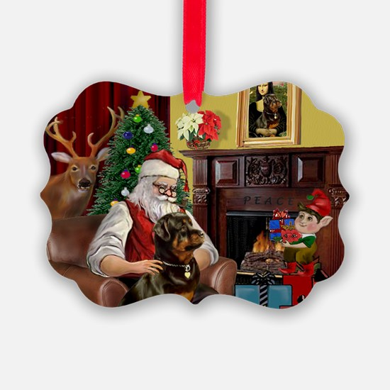 card-santahm-Rottie.png Ornament