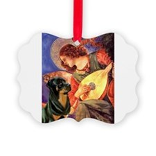 Mandolin Angel /Rottweiler Ornament