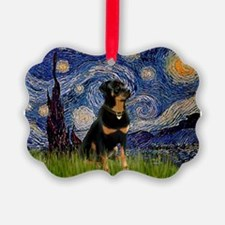 8x10-Starry-Rottie5.PNG Ornament