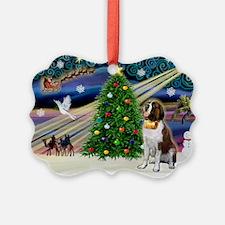 Xmas Magic & St Bern Ornament