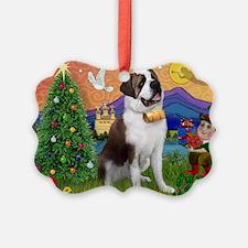 StBernard & Xmas Elf Ornament