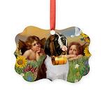 TILE-Cherubs-SaintBernard1.PNG Picture Ornament