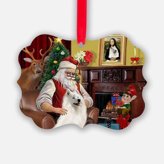 Santa's Samoyed Ornament