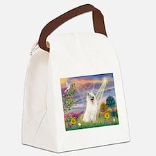 Cloud Angel & Samoyed Canvas Lunch Bag