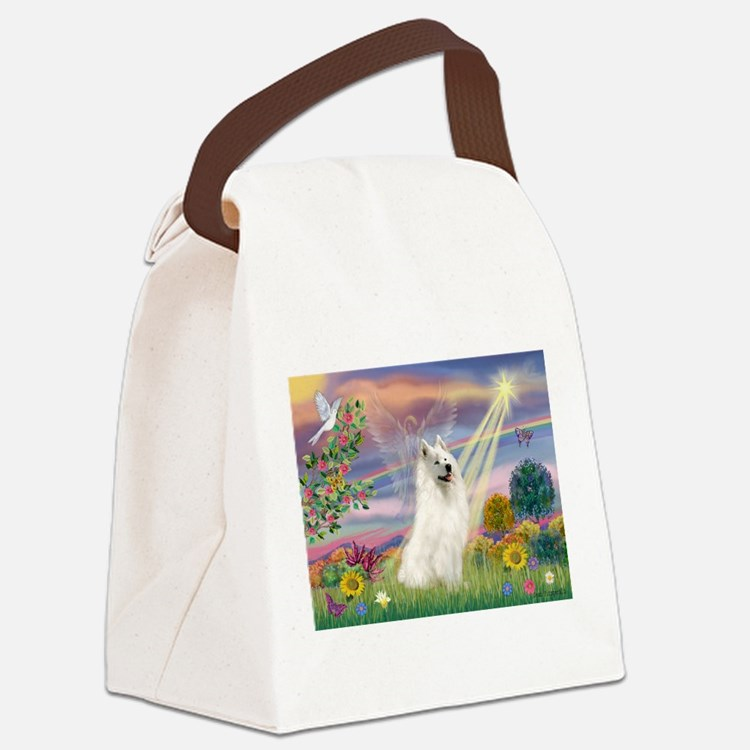 Cloud Angel & Samoyed Canvas Lunch Bag