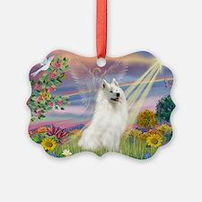 Cloud Angel & Samoyed Ornament