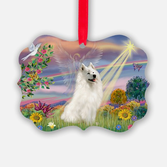 Cloud Angel & Samoyed Ornament