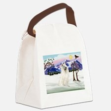 Snow Country / Samoyed Canvas Lunch Bag
