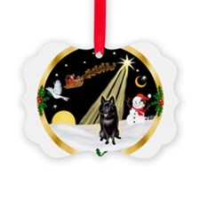 Night Flight/Schipperke Ornament