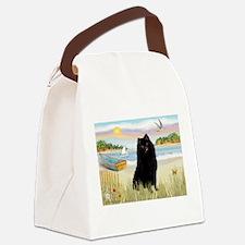 Rowboat / Schipperke Canvas Lunch Bag