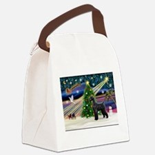 Xmas Magic-Blk Giant Schnauze Canvas Lunch Bag